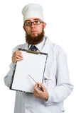 Doktorski whit schowek obrazy stock