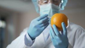 Doktorski wstrzykiwania serum w pomarańcze, seansu liposuction klienci procedura zbiory wideo