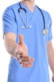 Doktorskie chwianie ręki obrazy stock