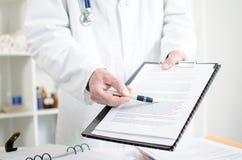 Doktorskie seans notatki obrazy stock