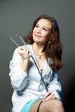 doktorskiego endoskopu uśmiechnięci potomstwa zdjęcia royalty free