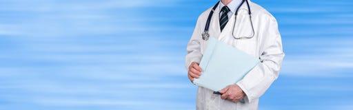 Doktorskiego mienia medyczna kartoteka zdjęcia royalty free