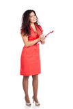 doktorskiej pielęgniarki pomyślna kobieta Zdjęcia Royalty Free
