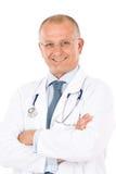doktorskiej samiec dojrzały fachowy stetoskop Obrazy Royalty Free