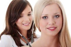 doktorskvinnlig Fotografering för Bildbyråer