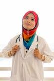 doktorskvinnligmuslim Arkivbild