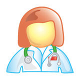 doktorskvinnligsymbol Royaltyfri Bild