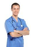 doktorsläkarundersökningstående royaltyfri bild