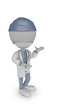 doktorspresentation för vitt folk 3D Royaltyfri Bild