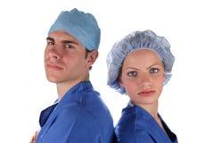 doktorssjuksköterska Fotografering för Bildbyråer