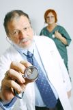 doktorssjuksköterska Arkivfoto