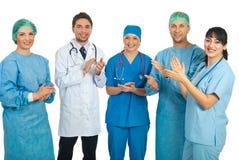Doktorteamapplaudieren Lizenzfreie Stockbilder