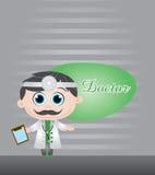 Doktorvektorabbildung Lizenzfreie Stockbilder