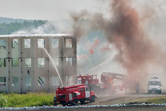 Doktrin av brandmän och ambulanslaget arkivfoton