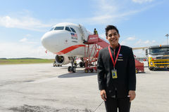 Dokująca Airasia strumienia linia lotnicza obraz royalty free