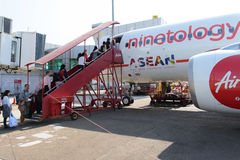 Dokująca Airasia strumienia linia lotnicza obrazy royalty free
