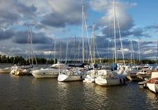 Dokujący jachty Zdjęcie Royalty Free