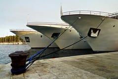 Dokujący jachty Obrazy Royalty Free