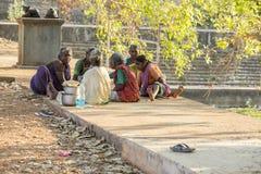Dokumentär redaktörs- bild, armod i gatan Indien Royaltyfria Foton