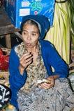 Dokumentär redaktörs- bild Typisk marknad på Bali Royaltyfri Bild
