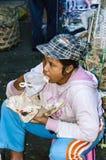 Dokumentär redaktörs- bild Typisk marknad på Bali Arkivfoto