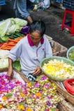 Dokumentär redaktörs- bild Typisk marknad på Bali Royaltyfri Foto