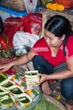 Dokumentär redaktörs- bild Typisk marknad på Bali Arkivbilder