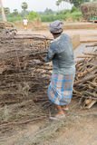 Dokumentär redaktörs- hand - gjorda tegelstenar i Indien Royaltyfria Bilder