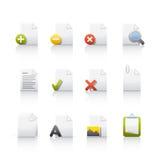dokumentów ikony set Fotografia Stock