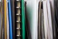 dokumentów kartoteki falcówki Fotografia Stock
