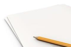 Dokument auf Weiß lizenzfreie abbildung
