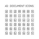 42 dokument ikony Obraz Stock