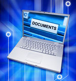 dokument komputerowe cyfrowe kartoteki Zdjęcia Stock
