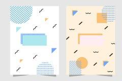 Dokument w górę szablonu tła Memphis stylu dla sztandaru, książkowej pokrywy, zawijającego papieru, etc ilustracja wektor