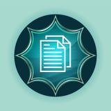 Dokument wzywa ikona guzika nieba błękita magicznego szklistego sunburst błękitnego tło ilustracji