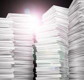 dokumentacja papierowej sterty biel fotografia stock