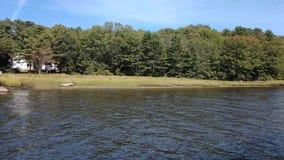 Dokumentalna ilości skąpania Maine wybrzeża latarnia morska zbiory wideo