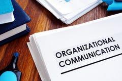 Dokumente über organisatorische Kommunikation stockfotografie