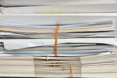 Dokumente und Faltblätter stockfotografie