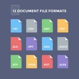 Dokumenten-Dateiformate Lizenzfreies Stockbild