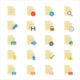 Dokumenten-flache Ikonenfarbe Lizenzfreies Stockbild
