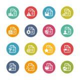 Dokumenten-Ikonen - 2 -- Neue Farb-Reihe Stockbild