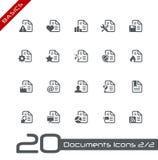 Dokumenten-Ikonen - Set 2 von 2 //-Grundlagen Lizenzfreie Stockfotos