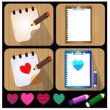 Dokumenten-und Bleistift-Vektor-Ikone - Illustration Lizenzfreie Stockbilder