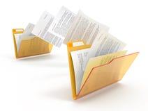 Dokumentenbewegen. Stockbilder