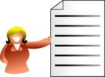 Dokumentenfrau vektor abbildung