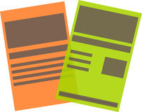 Dokumentenlogo Lizenzfreies Stockbild