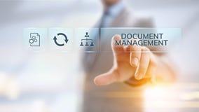 Dokumentenmanagement DMS System-Digital-Rechtmanagement stock abbildung