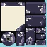 Dokumentenordner-Broschürenvisitenkarte stockbilder
