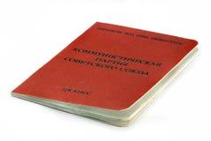 Dokumentera medlemmen av kommunistpartiet av Sovjetunionenet Royaltyfri Fotografi